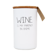 My Flame Lifestyle SOY CANDLE - WINE IS MY PARTNER IN CRIME - SCENT: FRESH COTTON