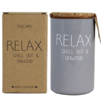 My Flame Lifestyle SOY CANDLE - RELAX CHILL OUT AND UNWIND - SCENT: AMBER'S SECRET