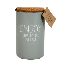 My Flame Lifestyle SOY CANDLE - ENJOY LIFE TO THE FULLEST - SCENT: MINTY BAMBOO