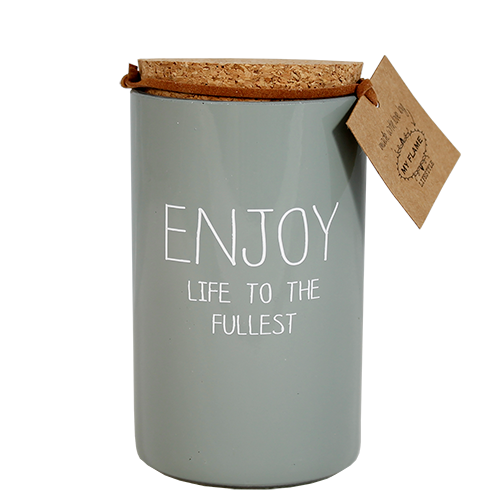 My Flame Lifestyle SOJAKAARS - ENJOY LIFE TO THE FULLEST - GEUR: MINTY BAMBOO