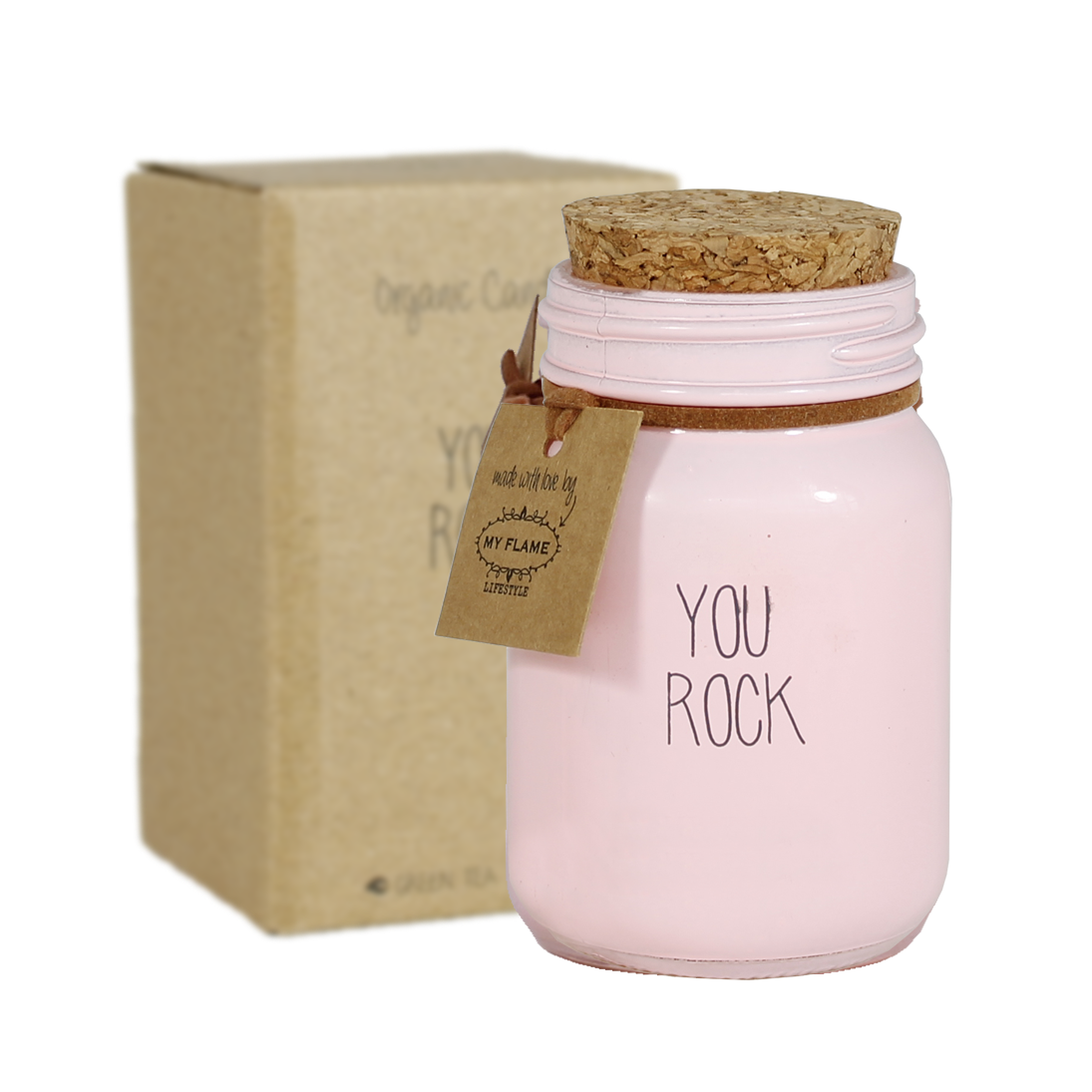 My Flame Lifestyle SOY CANDLE - YOU ROCK - SCENT: GREEN TEA TIME
