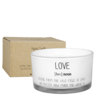 My Flame Lifestyle SOY CANDLE - LOVE - SCENT: FRESH COTTON