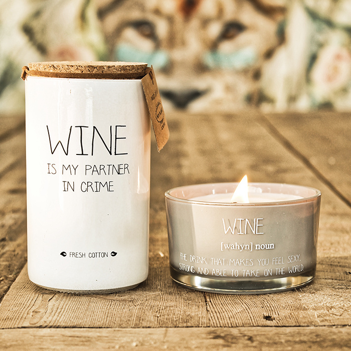 My Flame Lifestyle SOY CANDLE - WINE - AMBER'S SECRET