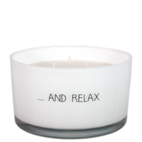 My Flame Lifestyle SOY CANDLE - AND RELAX - SCENT: FRESH COTTON