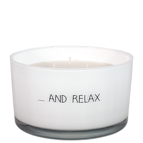 SOY CANDLE - AND RELAX