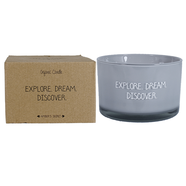 My Flame Lifestyle SOY CANDLE - EXPLORE DREAM DISCOVER - SCENT: AMBER'S SECRET