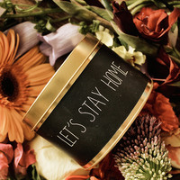 My Flame Lifestyle SOY CANDLE - LET'S STAY HOME - SCENT: PERSIAN POMEGRANATE