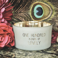 My Flame Lifestyle SOY CANDLE - 100 KINDS OF LOVELY - SCENT: MINTY BAMBOO