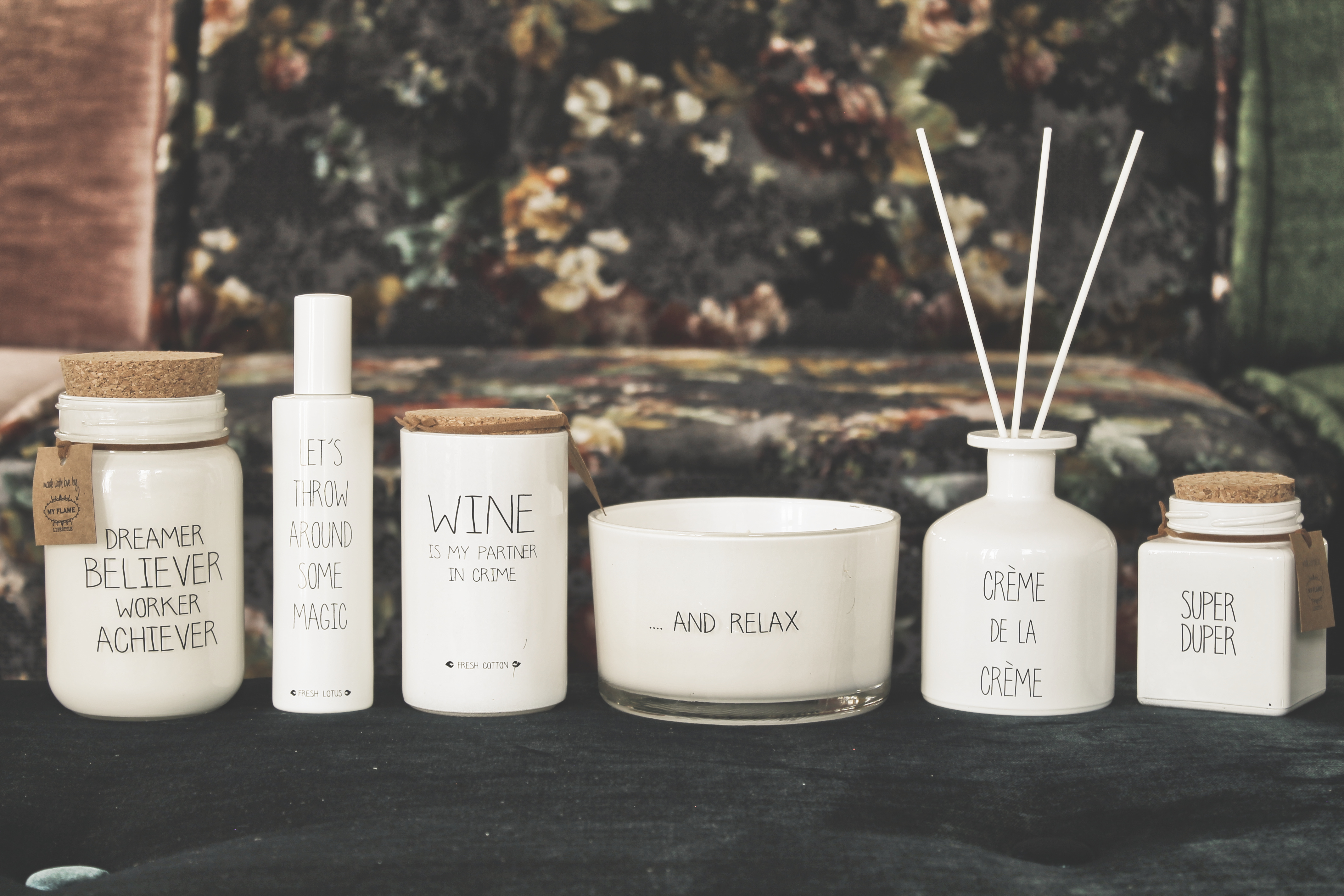 My Flame Lifestyle SOY CANDLE - SUPER DUPER - SCENT: FRESH COTTON