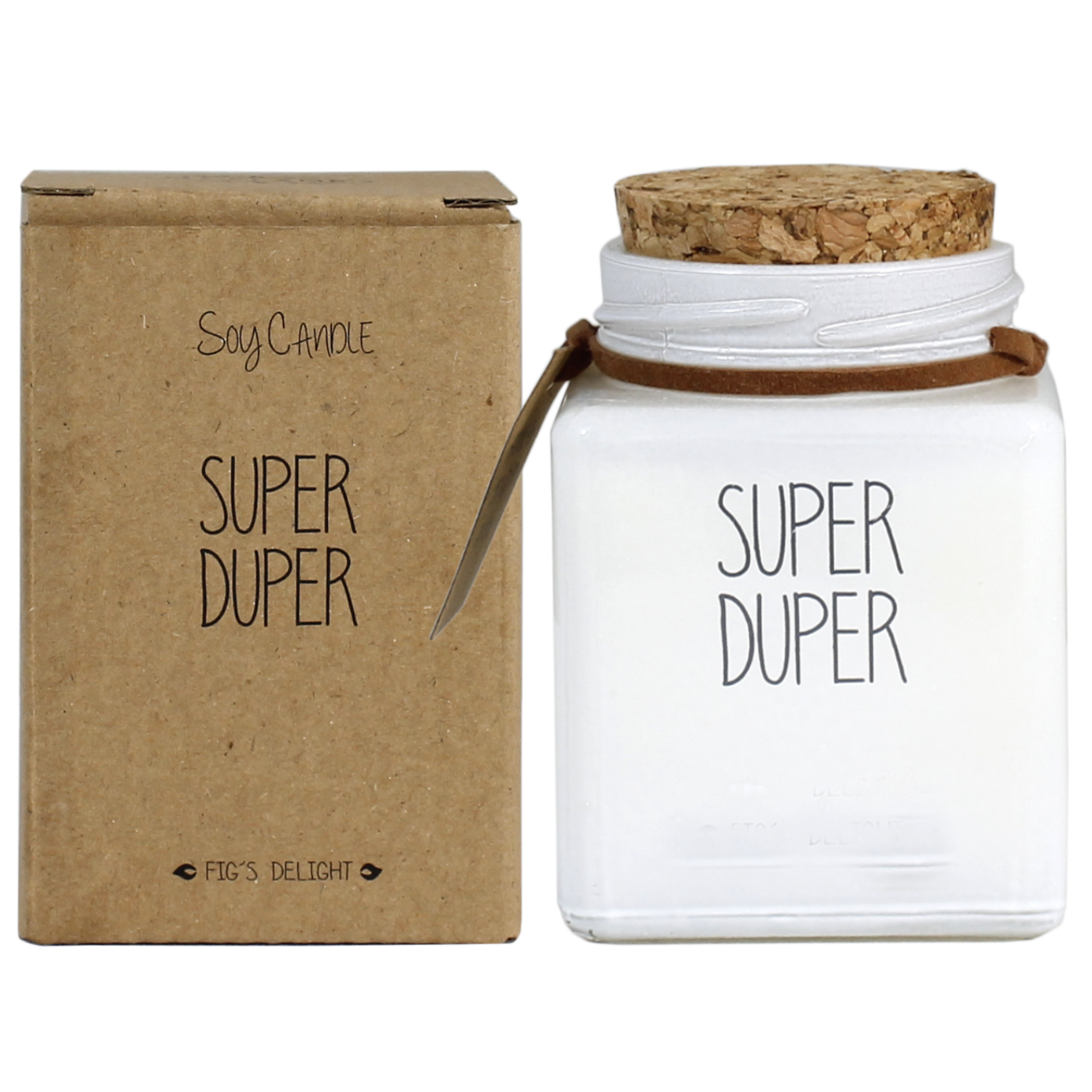 My Flame Lifestyle SOJAKAARS - SUPER DUPER - GEUR: FIG'S DELIGHT