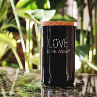 My Flame Lifestyle SOY CANDLE - LOVE IS THE ANSWER - SCENT: WARM CASHMERE
