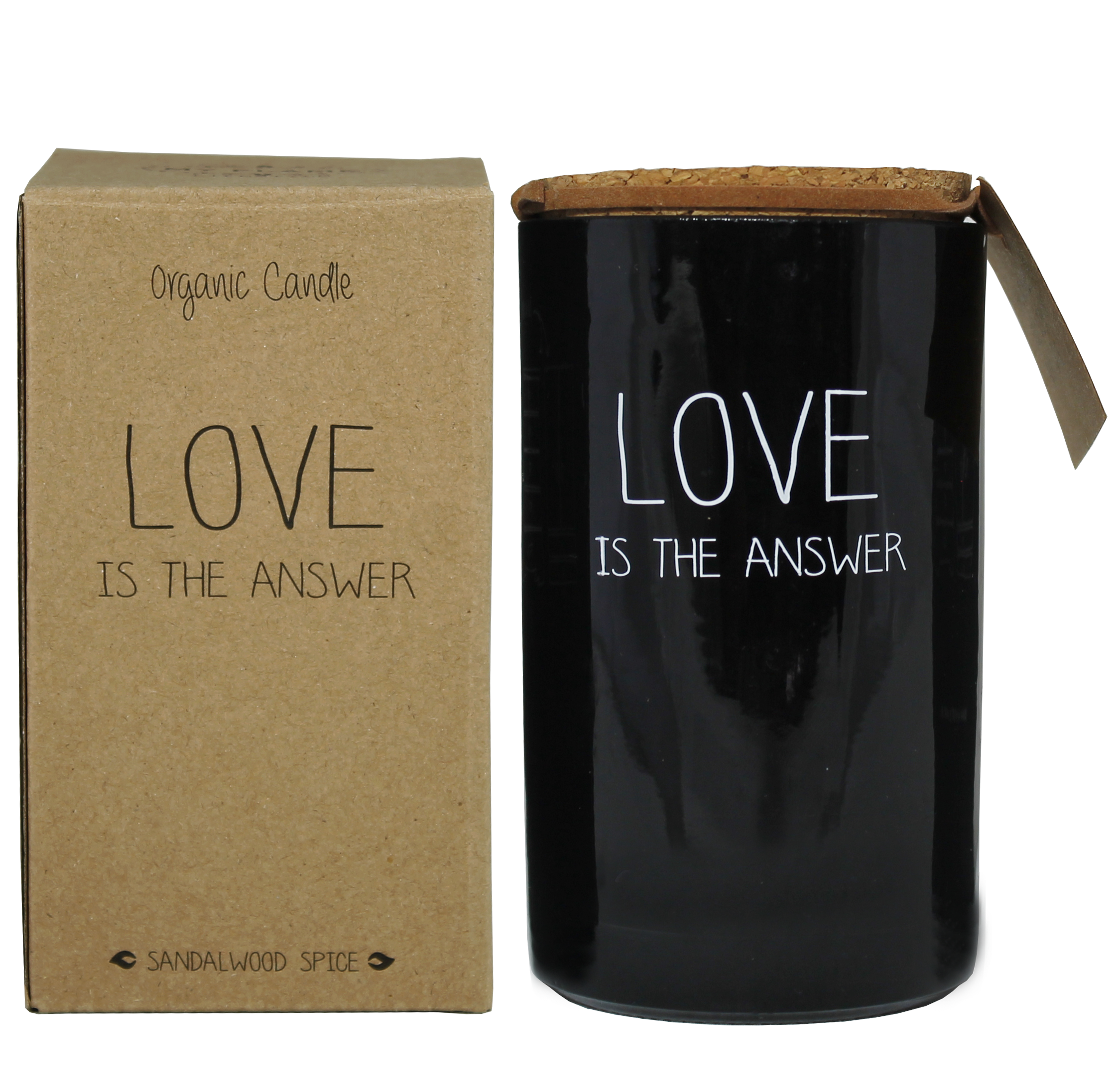 My Flame Lifestyle SOJAKAARS - LOVE IS THE ANSWER - GEUR: WARM CASHMERE
