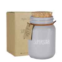 My Flame Lifestyle SOY CANDLE - SUPERSTAR - SCENT: AMBER'S SECRET