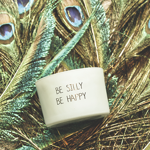 My Flame Lifestyle SOJAKAARS - BE SILLY BE HAPPY - GEUR: MINTY BAMBOO
