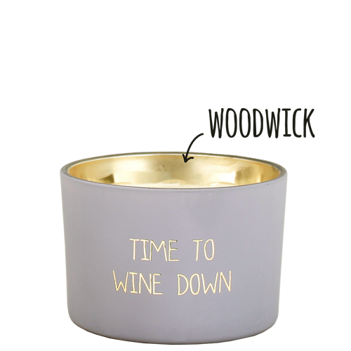 My Flame Lifestyle SOY CANDLE - TIME TO WINE DOWN - SCENT: AMBER'S SECRET