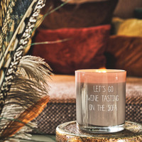 My Flame Lifestyle SOY CANDLE - LET'S GO WINE TASTING ON THE SOFA - SCENT: FIG'S DELIGHT