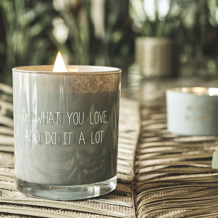 My Flame Lifestyle SOY CANDLE - DO WHAT YOU LOVE - SCENT: MINTY BAMBOO