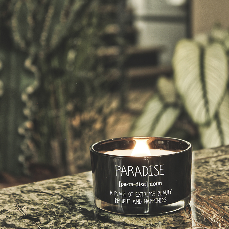 My Flame Lifestyle SOY CANDLE - PARADISE - SCENT: WARM CASHMERE