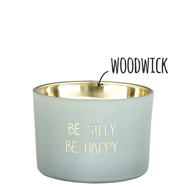 My Flame Lifestyle SOY CANDLE - BE SILLY BE HAPPY - SCENT: MINTY BAMBOO