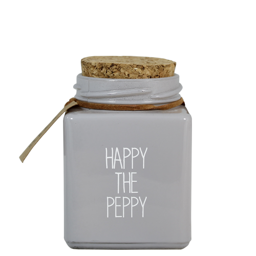 SOY CANDLE - HAPPY THE PEPPY