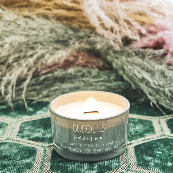 My Flame Lifestyle SOY CANDLE - CUDDLES - SCENT: MINTY BAMBOO