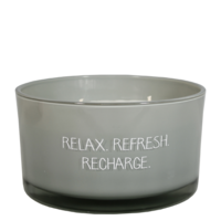 My Flame Lifestyle SOJAKAARS - RELAX REFRESH RECHARGE - GEUR: MINTY BAMBOO