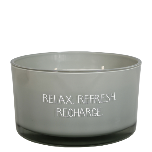 My Flame Lifestyle SOY CANDLE - RELAX REFRESH RECHARGE - SCENT: MINTY BAMBOO