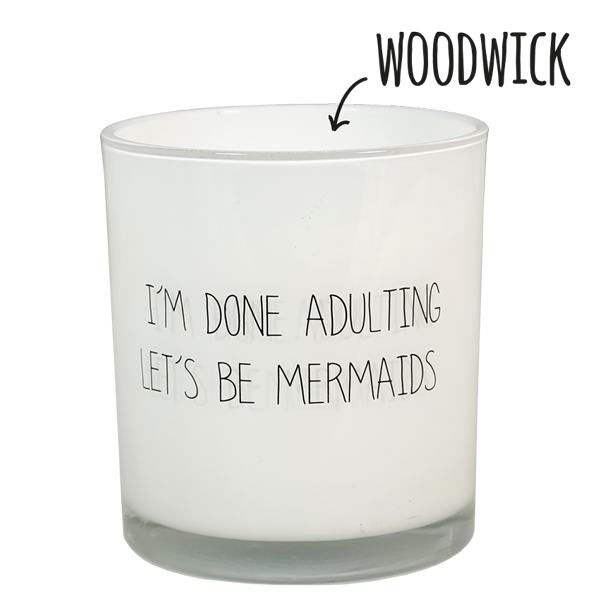 My Flame Lifestyle SOJAKAARS - I'M DONE ADULTING, LET'S BE MERMAIDS - GEUR: FRESH COTTON
