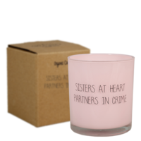 My Flame Lifestyle SOY CANDLE - SISTERS AT HEART, PARTNERS IN CRIME - SCENT: GREEN TEA TIME