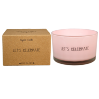 My Flame Lifestyle SOY CANDLE - LET'S CELEBRATE - SCENT: GREEN TEA TIME