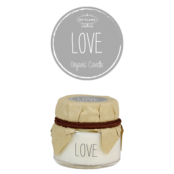 My Flame Lifestyle SOY CANDLE - LOVE - SCENT: AMBER'S SECRET