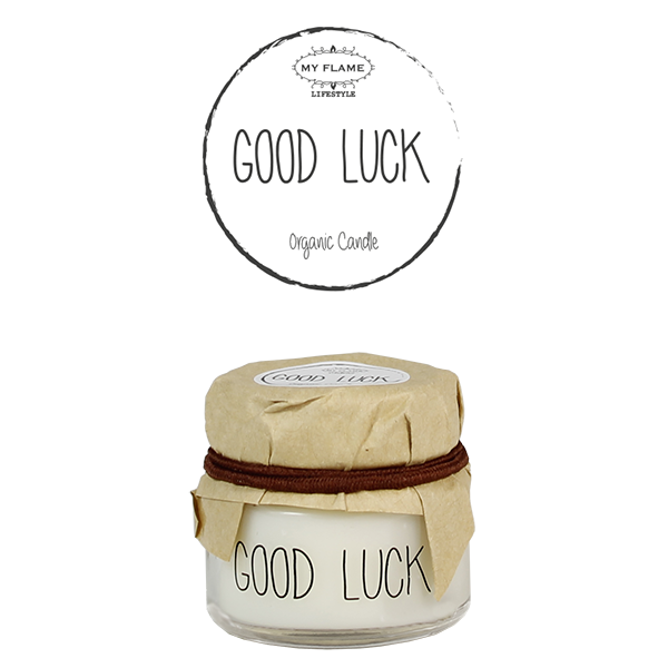 My Flame Lifestyle SOY CANDLE - GOOD LUCK - SCENT: FRESH COTTON