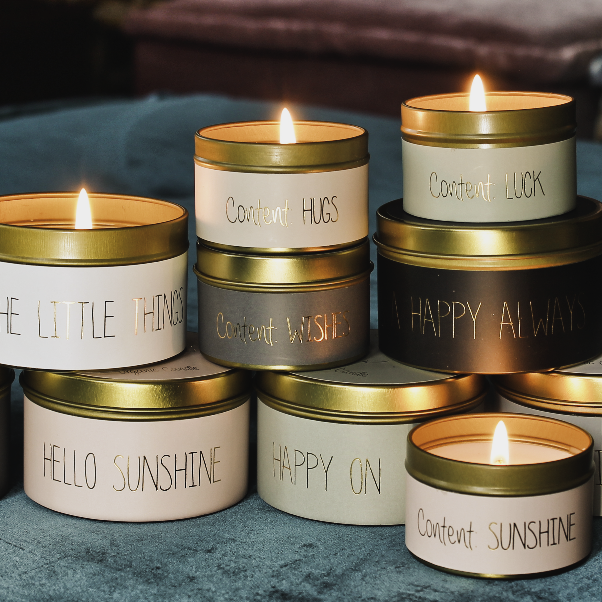 My Flame Lifestyle SOY CANDLE M - LIFE IS FUN - SCENT: FIG'S DELIGHT