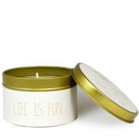 My Flame Lifestyle SOJAKAARS - LIFE IS FUN  - GEUR: FIG'S DELIGHT