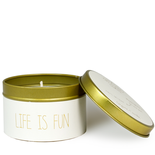 SOY CANDLE M - LIFE IS FUN