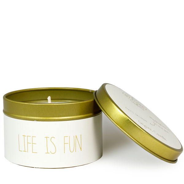 My Flame Lifestyle SOJAKAARS M - LIFE IS FUN  - GEUR: FIG'S DELIGHT