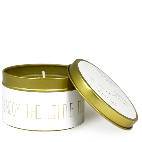 My Flame Lifestyle SOY CANDLE M - ENJOY THE LITTLE THINGS - SCENT: FRESH COTTON