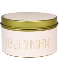 My Flame Lifestyle SOY CANDLE M - HELLO SUNSHINE - SCENT: GREEN TEA TIME