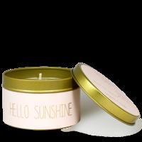 My Flame Lifestyle SOJAKAARS M - HELLO SUNSHINE - GEUR: GREEN TEA TIME