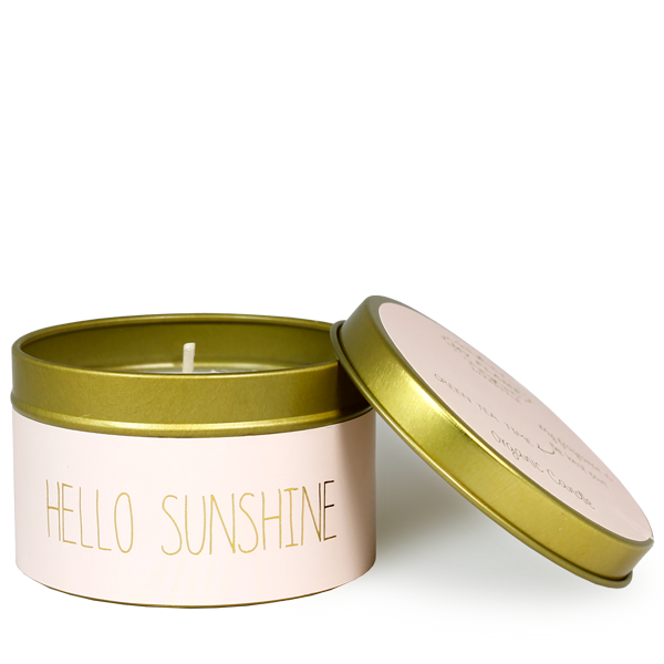 My Flame Lifestyle SOJAKAARS - HELLO SUNSHINE - GEUR: GREEN TEA TIME