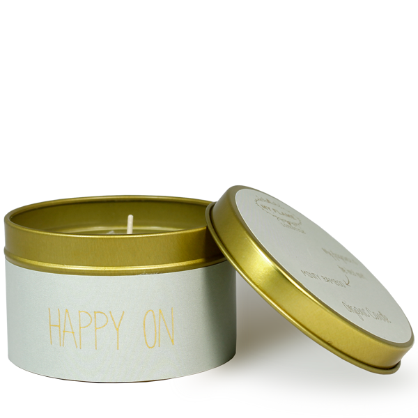 My Flame Lifestyle SOJAKAARS - HAPPY ON - GEUR: MINTY BAMBOO