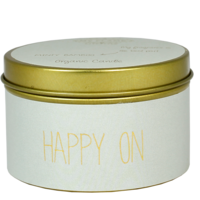 My Flame Lifestyle SOY CANDLE M - HAPPY ON - SCENT: MINTY BAMBOO