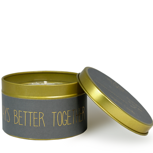 My Flame Lifestyle SOY CANDLE M - ALWAYS BETTER TOGETHER - SCENT: PERSIAN POMEGRANATE