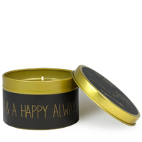 My Flame Lifestyle SOY CANDLE M - MERRY EVERYTHING AND A HAPPY ALWAYS - SCENT: WARM CASHMERE