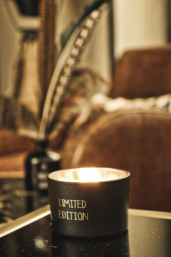 My Flame Lifestyle SOY CANDLE - LIMITED EDITION - SCENT: WARM CASHMERE