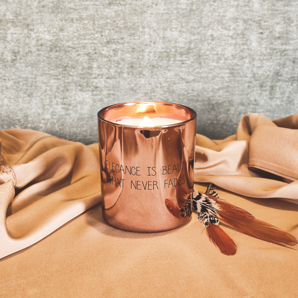 My  Flame Lifestyle SOY CANDLE - ELEGANCE IS BEAUTY THAT NEVER FADES - SCENT: GREEN TEA TIME