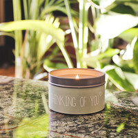 My Flame Lifestyle SOY CANDLE - THINKING OF YOU - SCENT: GREEN TEA TIME