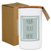 My Flame Lifestyle SOY CANDLE -YOUR OWN TEXT - SCENT: FRESH COTTON