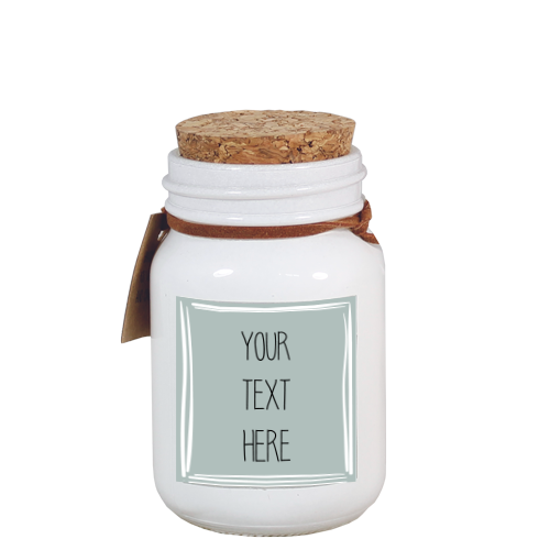 SOY CANDLE - YOUR OWN TEXT