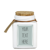 My Flame Lifestyle SOY CANDLE - YOUR OWN TEXT - SCENT: FRESH COTTON